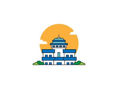 Gedung Sate Bandung indonesia bandung branding ui ux icon creative vector graphic design flat design design