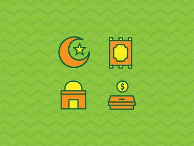 Ramadhan Icon Set vector icon ui elegant muslim islam eidmubarak ramadhan ui ux creative graphic design flat design design
