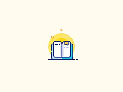 Open Book creative graphic design flat design read ui design