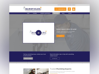 BARNFIELDS Web Design Concept