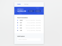Chrome Extension - NANO cryptocurrency wallet (Redesign)