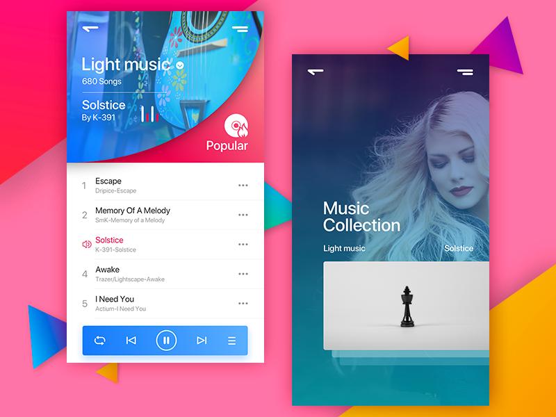 Music colour app music