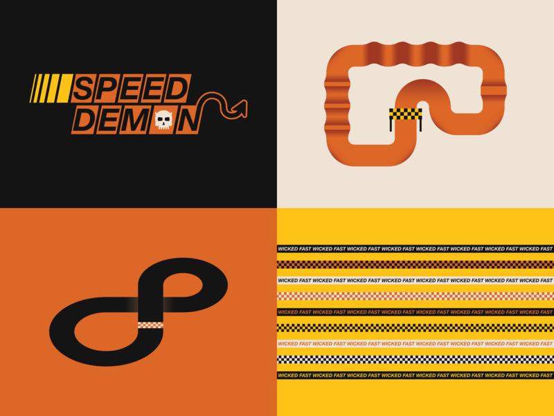 Speed Demon skull icon design logo illustration dirtbike jersey design speed demon motocross motox moto