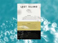 Lost Island Menu