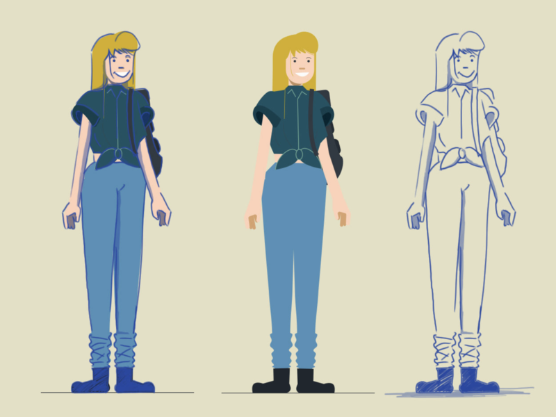 Character Design vector characters illustration design girl female character design characterdesign character