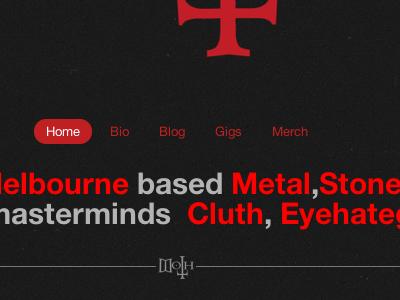 Moth- home page. band metal clean wordpress