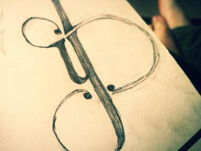 Type trials - Sketch typography art deco sketch greylead