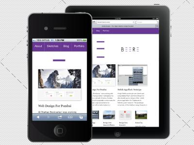 Danielbeere.com responsive css3 front-end development freelance tablet mobile