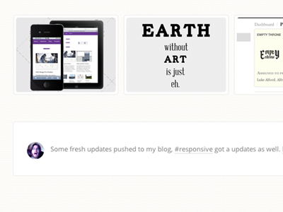 Blog update, lukealford.com html5 css3 css transitions twitter feed anchorcms typography