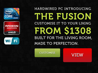 Hardwired PC - Redesign redesign typography web design pc gaming