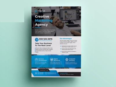 Corporate Flyer design creative corporate flyer corporate company clean business flyer business agency advertising advertisement a4