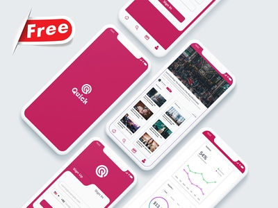 Quick- Online Video Player Mobile Apps Design laundry ui kit laundry service laundry app laundry ironing ios app ui kit ios app design dry cleaning delivery commercial laundry android psd