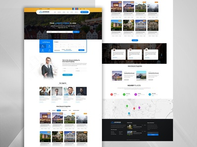 Modern- Real Estate PSD Template real estate agent real estate agency real estate property listing house google maps directory classified agent agency