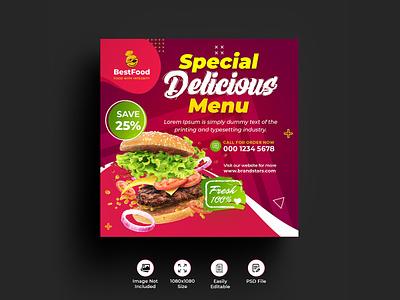 Restaurant Instagram Posts & Stories insta sale insta promo insta post insta banner insta hot price food creative cafe burger banners banner