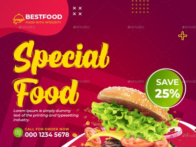 Food Restaurant Instagram Banner italian instapost instagram template instagram post template instagram post instagram insta food followers fb fast food facebook discount dinner burger blogger blog banners banner