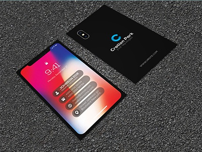 Iphone x business card by ajoy kumer dribbble this is a iphone x business card this template download contains 300 dpi print ready cmyk psd files all main elements are editable and customizable wajeb Gallery