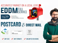 I Will Design Eddm Every Door Direct Mail And Postcard