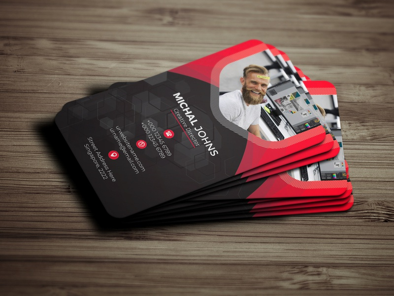 Business Card visiting card modern print ready clean creative designer business professional business card corporate