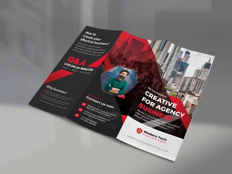 Trifold Brochure template style professional pro print-ready print multipurpose modern marketing letter financial design customizable creative corporate company clean business brochure business brochure