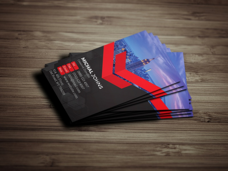4 Colors Business Cards modern print ready designer business professional clean creative design corporate business card