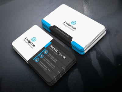 4 Colors Business Cards visiting card corporate designer print ready business professional clean design creative business card