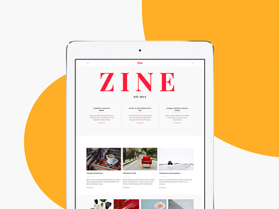 ZIne UI Kit for Sketch psd sketch free sample magazine newspaper blog ui kit