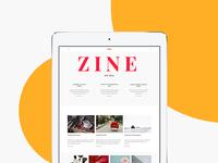 ZIne UI Kit for Sketch