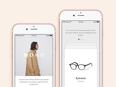 Mono iOS UI Kit for Photoshop and Sketch ui kit photoshop sketch ecommerce fashion minimal minimalism clean