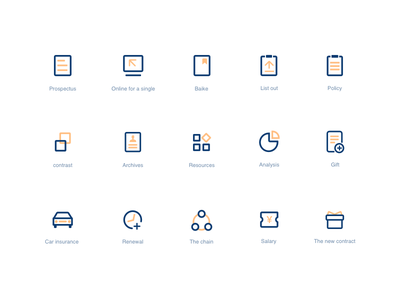 Some exercises for ICONS orange blue cleanliness affairs business