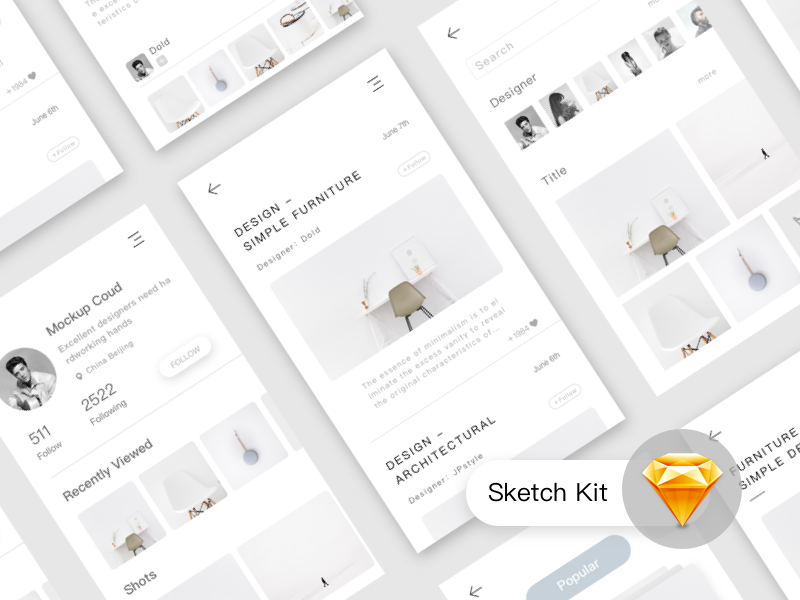 Furniture Conceptual Design Sketch Kit By Jpstyle Dribbble