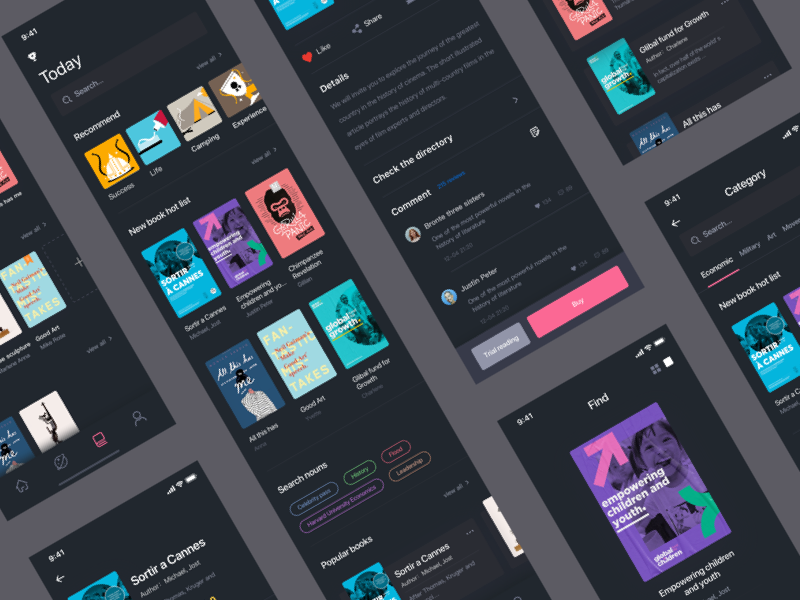PostIt E-Book App UI Kit