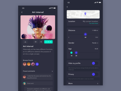 Social Network App Design