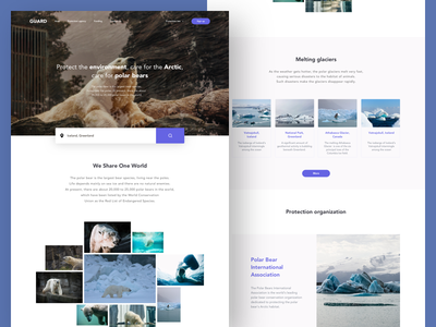 Environment Protection Web Design animal interface ux ui queble website design web design environment