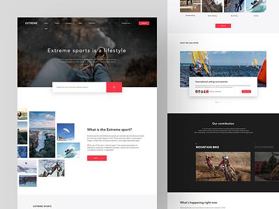 Extreme sports  Web Design interface ux ui queble website design web design