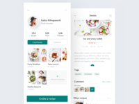 Recipe App Design - Profile & Recipe