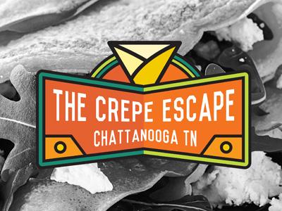 The Crepe Escape crepe foodtruck restaurant branding logo