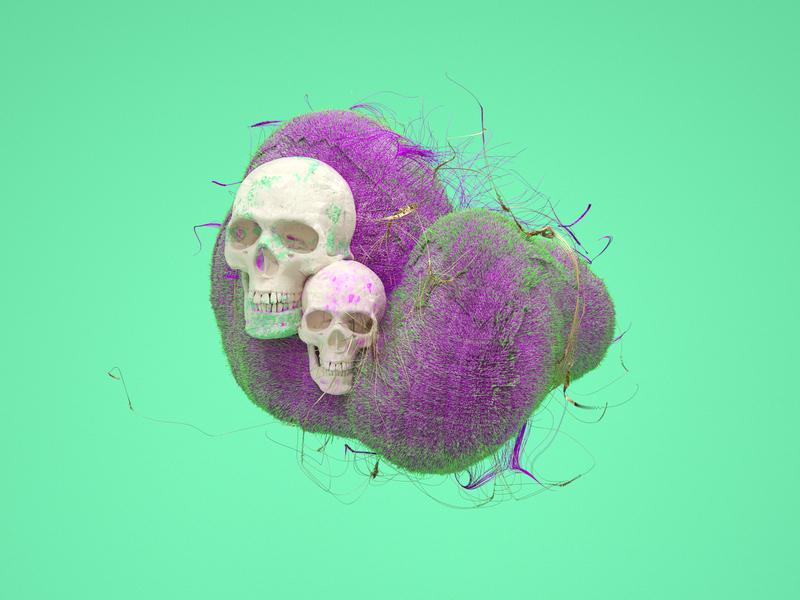 Render Shot 22 shape graphic color visual render texture effects octane c4d
