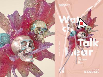 Render Shot 25 poster design color visual texture render graphic octane effects c4d