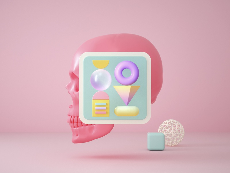 Render Shot 26 shapes color visual render graphic octane effects c4d