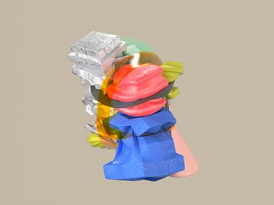 Render Shot 27 shapes redshift design color visual texture render graphic effects c4d