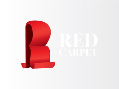 Red Carpet Logo red logo r mark r letter r logo illustration letter design branding vector logo carpet red