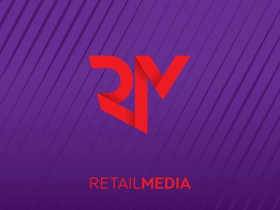 RetailMedia Logo logo ribbon monogram