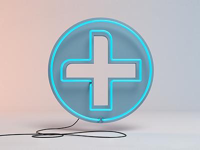 + Ident ident neon sign 3d logo