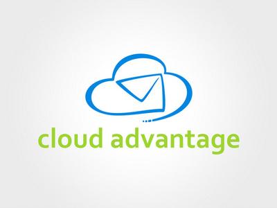 Cloud Advantage Logo logo design cloud mail logo