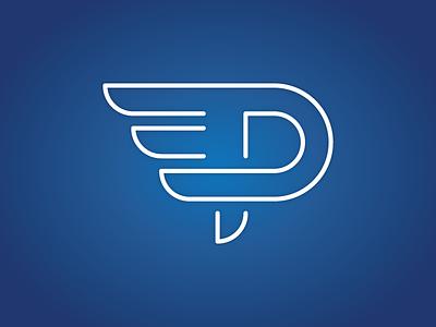 Pegasus Logo logomark wing letter p p pegasus logo