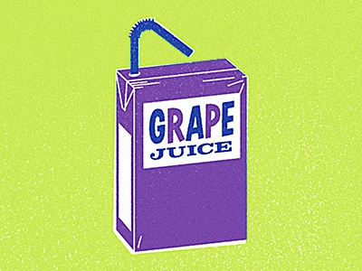 Grape Juice illustrator illustration juice drink grape food juice box