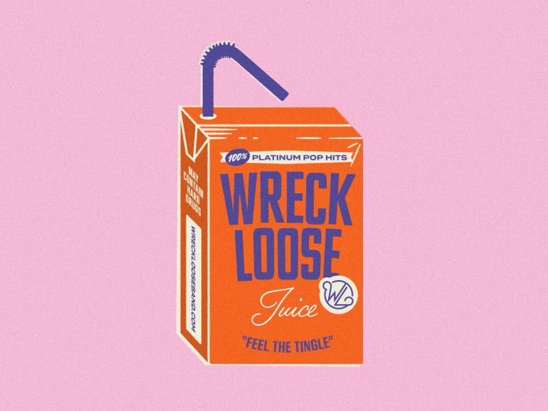 Loose Juice juice box sticker fruit juice band music packaging illustration illustrator