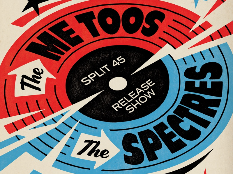 Me Toos x Spectres vinyl record gigposter music illustration illustrator