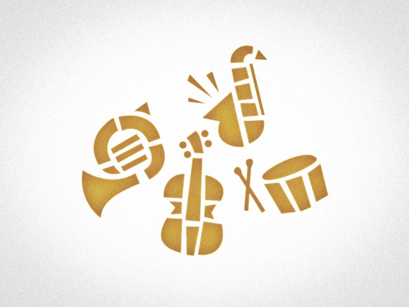 Brass Bonanza orchestra music instrument illustrator illustration