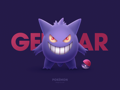 Illustration design-Pokémon Gengar耿鬼